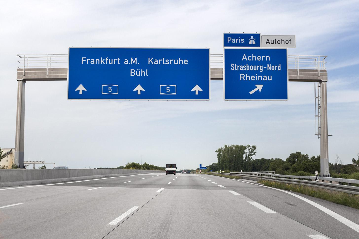 Over de weg naar Duitsland